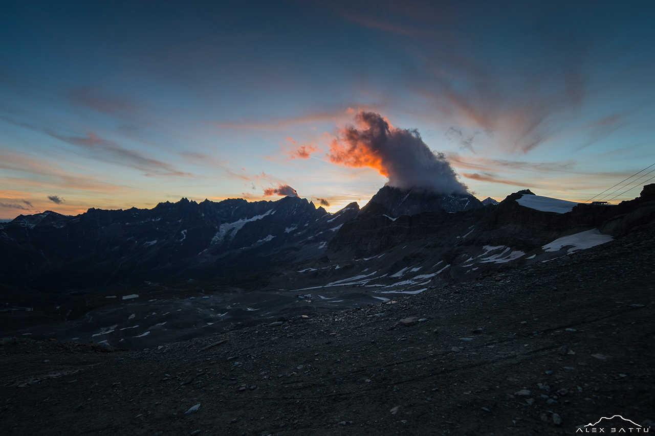 Sunset in front of Matterhorn