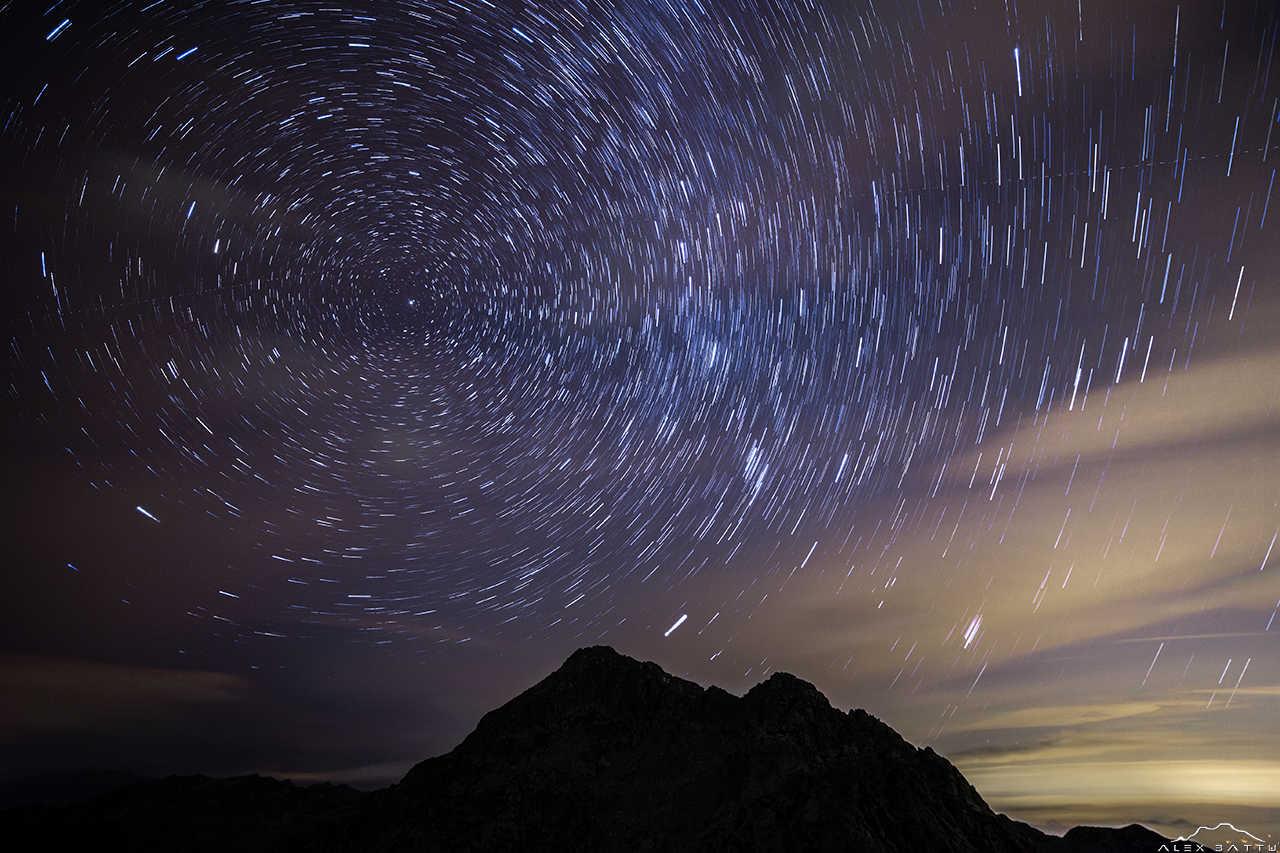 Monte Mars; star trail